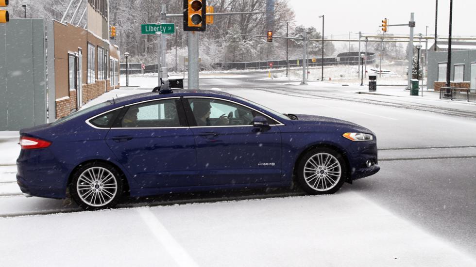 prueba coche autonomo nieve