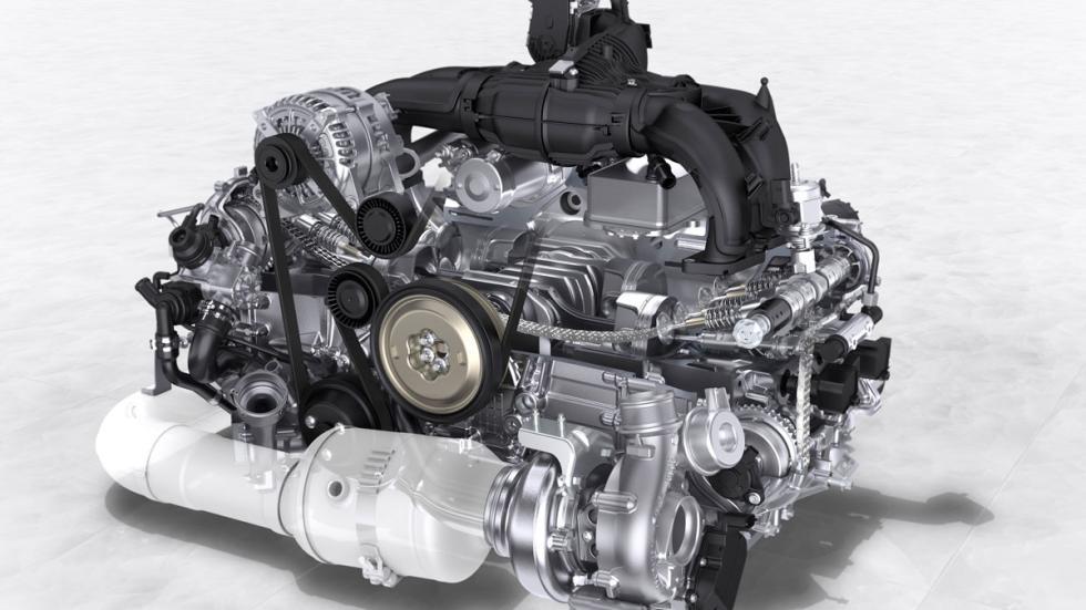 El motor bóxer de cuatro cilindros del Porsche 718 Boxster