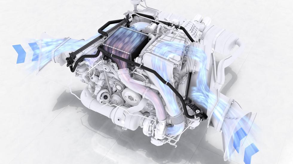Salida de ventilación del motor motor bóxer porsche 718