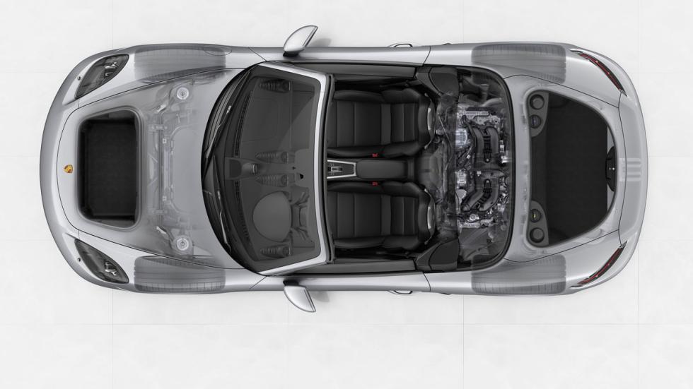 vista interna superior del porsche 718