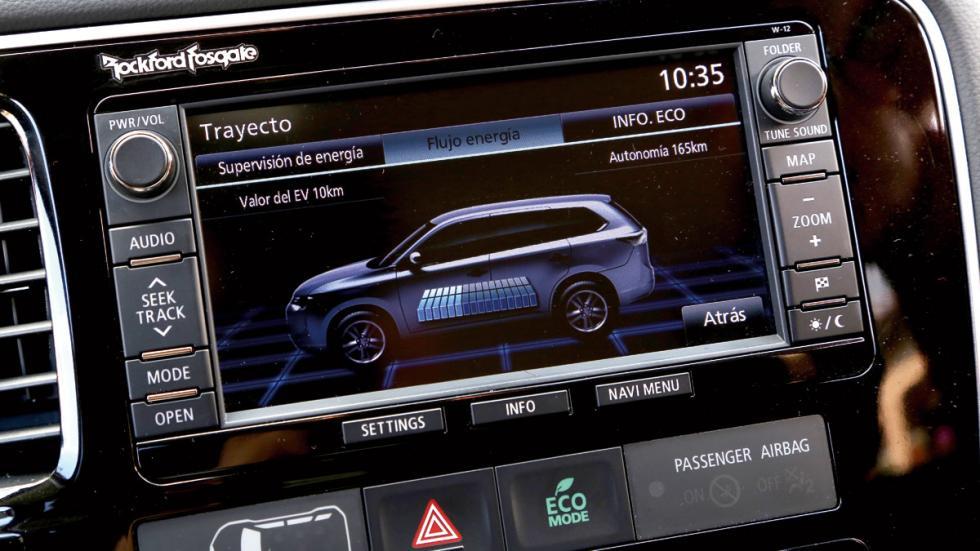 SUV híbridos: Mitsubishi Outlander PHEV pantalla