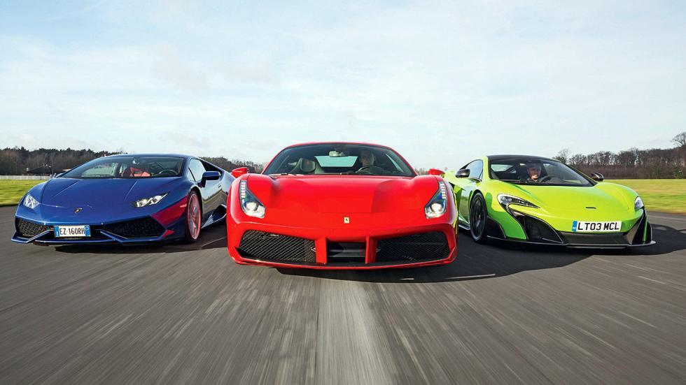 Duelo: Ferrari 488 GTB/Lamborghini Huracán/McLaren 675 LT