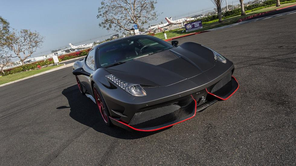 Frontal del Ferrari 458 Italia Satin Black