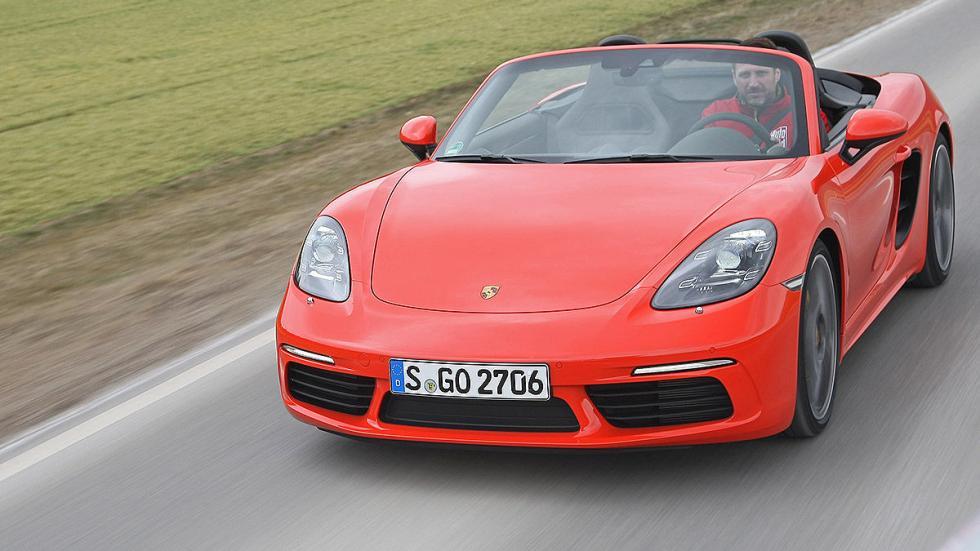 Prueba: Porsche 718 Boxster morro faros dinámica