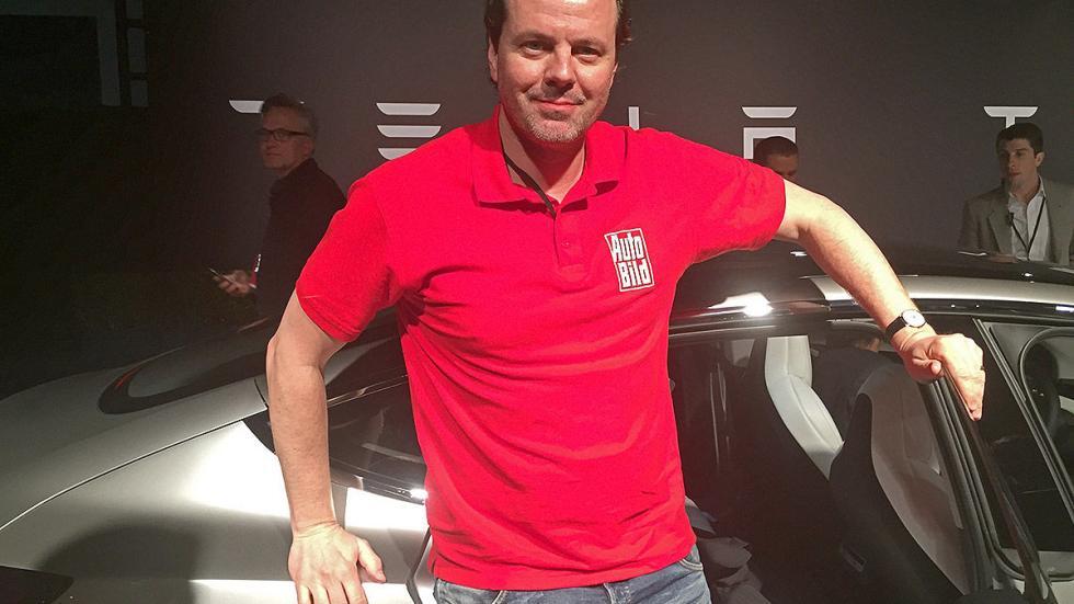 Tesla Model 3 redactor presentación traseras