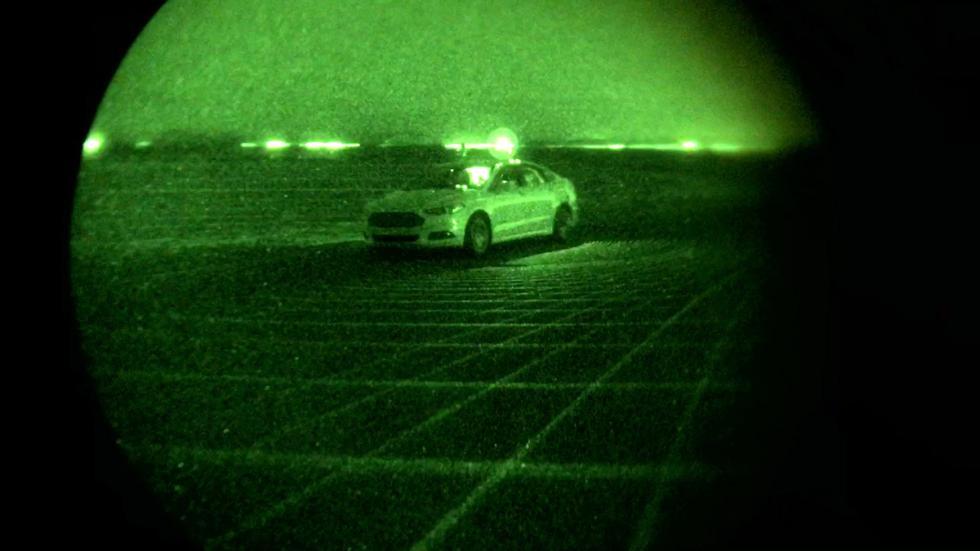 vision nocturna coche autonomo ford