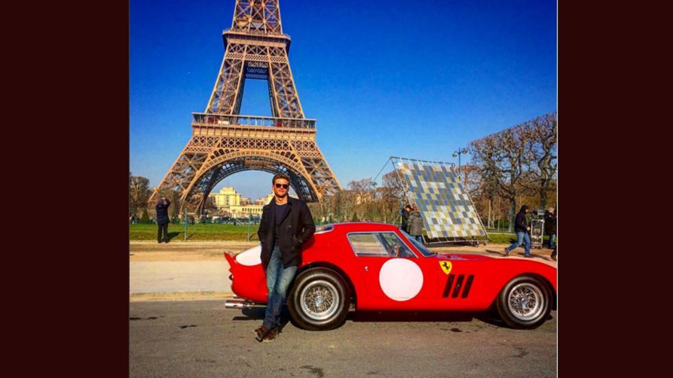 El hijo de Clint Eastwood posa junto a un Ferrari GTO 250 de 1962 e su Instagram