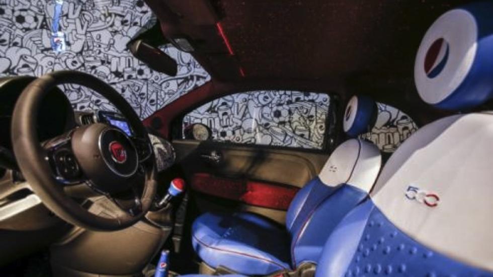 Fiat 500 Pepsi interior