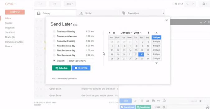 segundo truco gmail programar correos