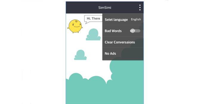 app simsimi elegir vocabulario
