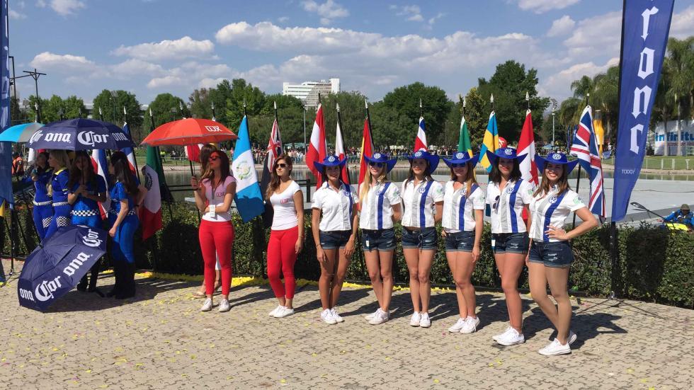 rally de méxico 2016 chicas podio