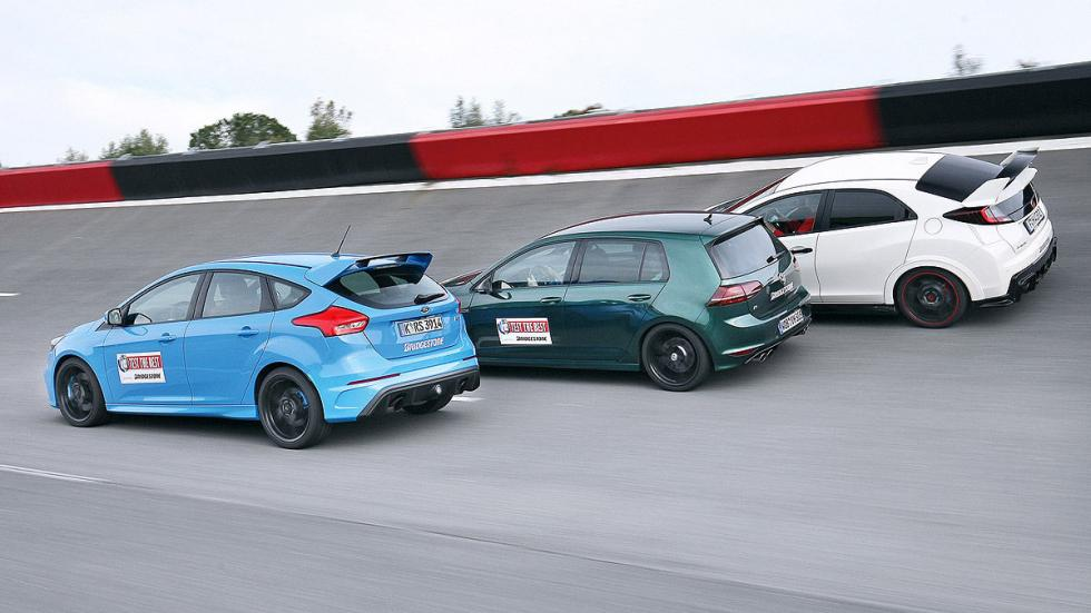 Comparativa: Ford Focus RS / VW Golf R / Honda Civic Type R