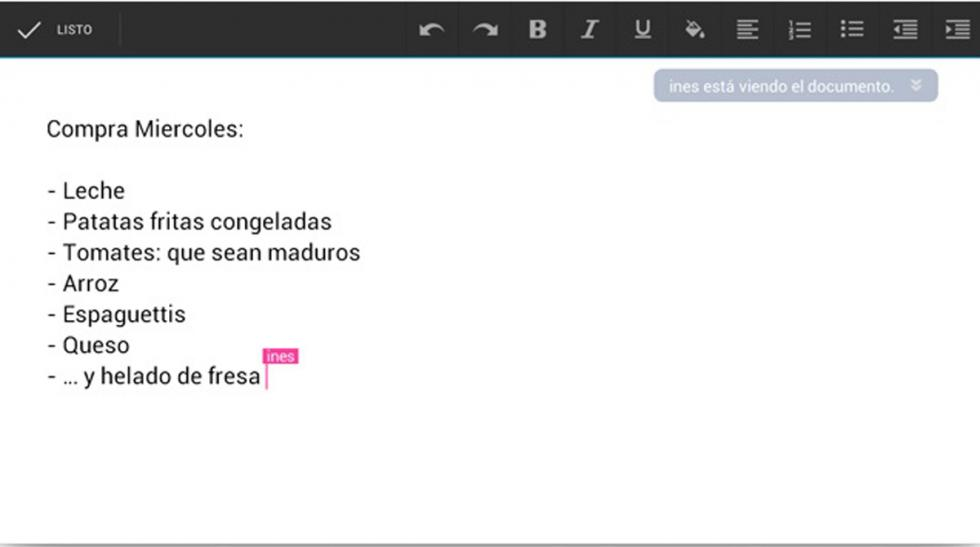 saber visto o modificado documento google drive