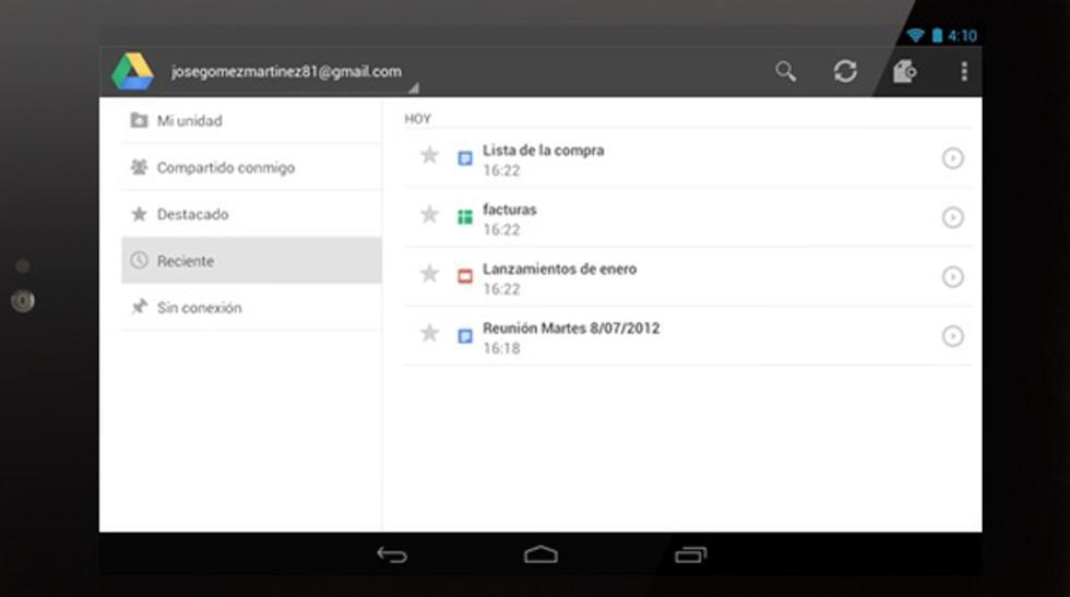 herramienta google drive multitud archivos