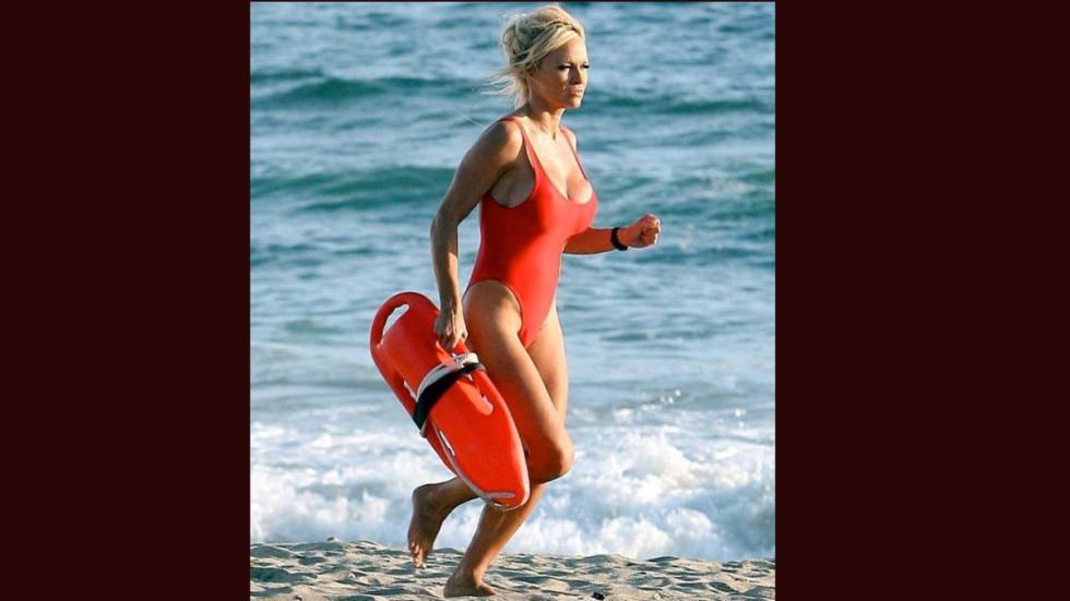 Pamela Anderson en 'Los Vigilantes de la Playa'.