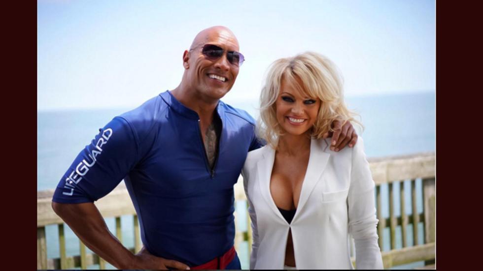 'La Roca' y Pamela Anderson