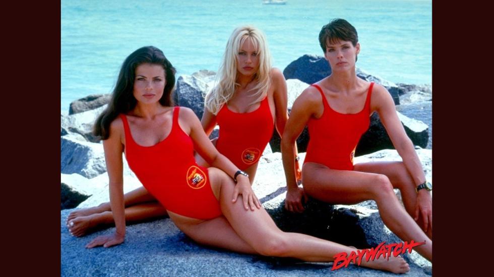 Varias actrices de la serie 'Los Vigilantes de la Playa'.