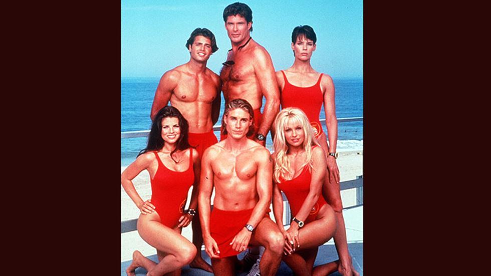 Actores de la serie 'Los Vigilantes de la Playa'.
