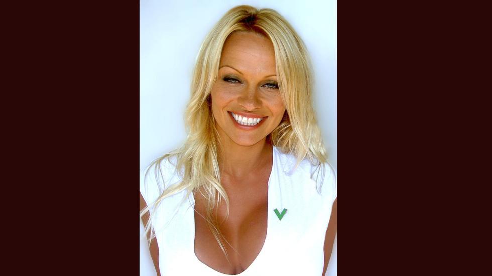 Pamela Anderson en la campaña PETA 2008.