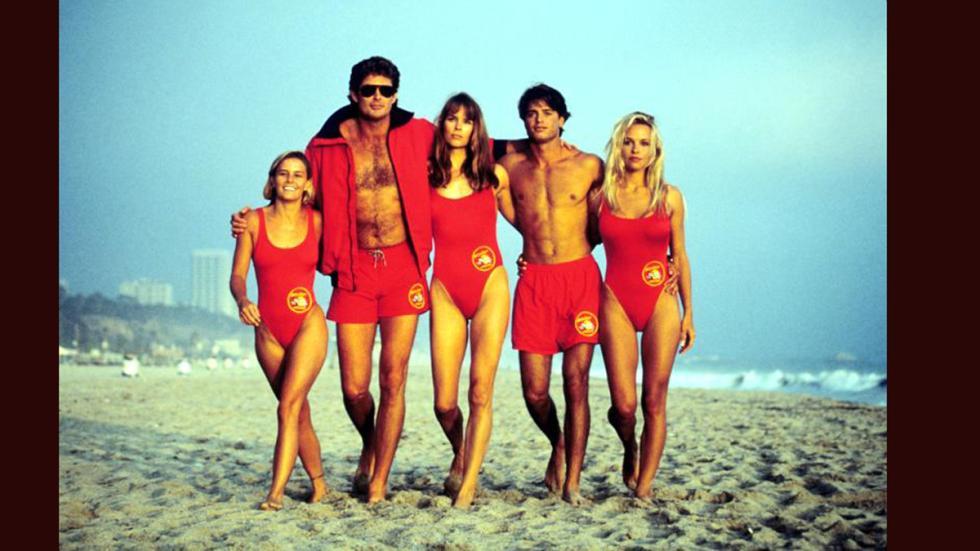 Varios actores de 'Los Vigilantes de la Playa'.