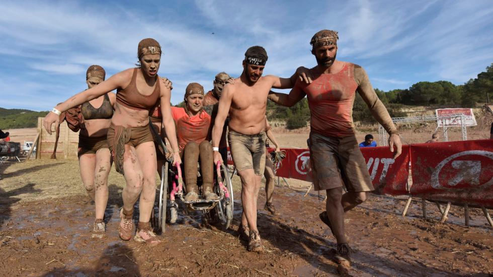 Eva Moral, en la Spartan Race
