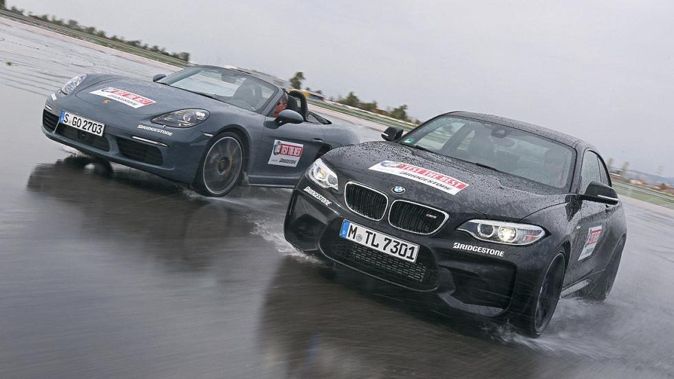 Cara a cara en circuito: Porsche 718 Boxster vs BMW M2