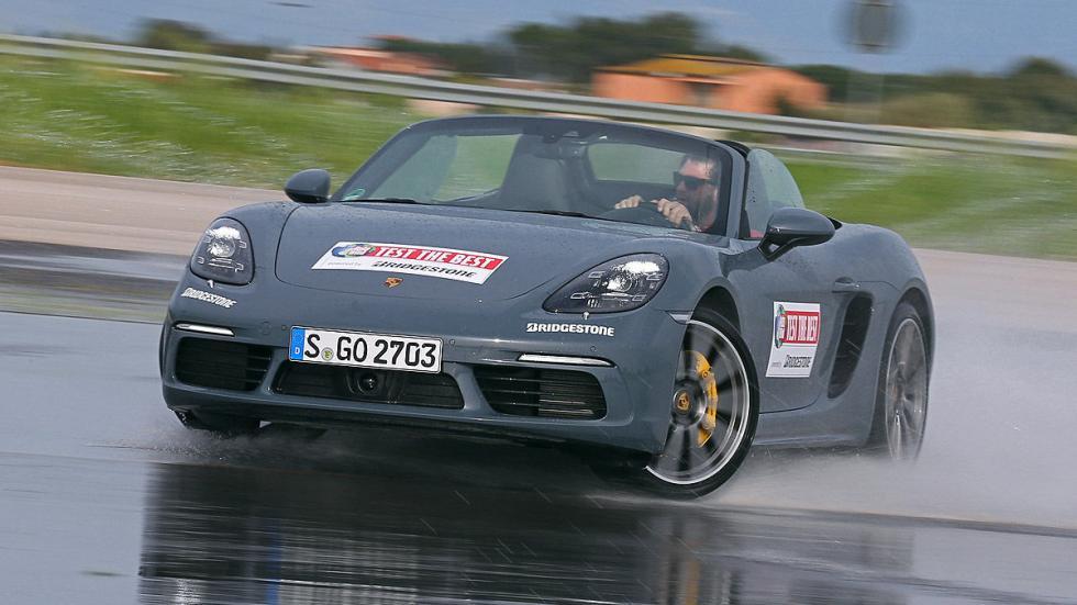 Porsche 718 Boxster barrido drift
