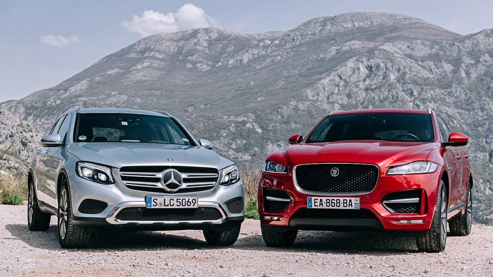 Cara a cara: Jaguar F-Pace contra Mercedes GLC