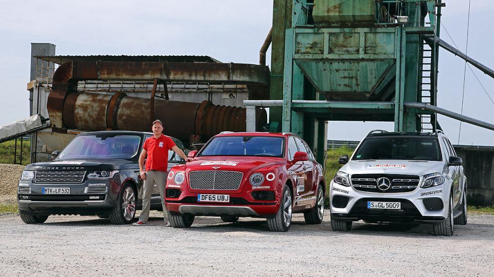 Comparativa:Bentley Bentayga vs Mercedes GLS vs Range Rover zagas morros