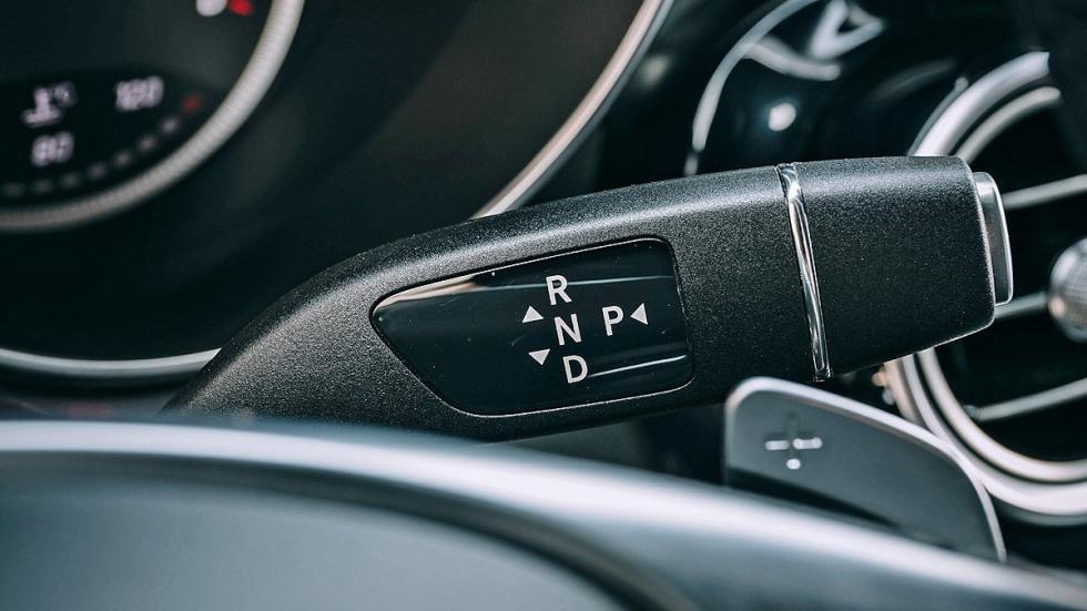 Mercedes GLS detalle palanca