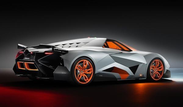 Lamborghini Egoista tres cuartos trasera