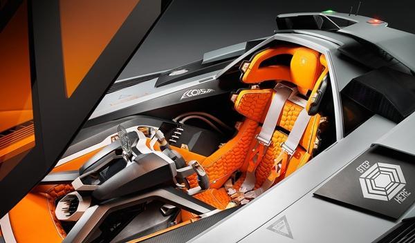 Lamborghini Egoista asiento