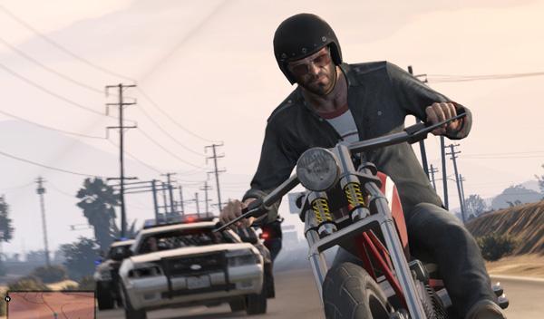 Coches GTA V persecución en moto