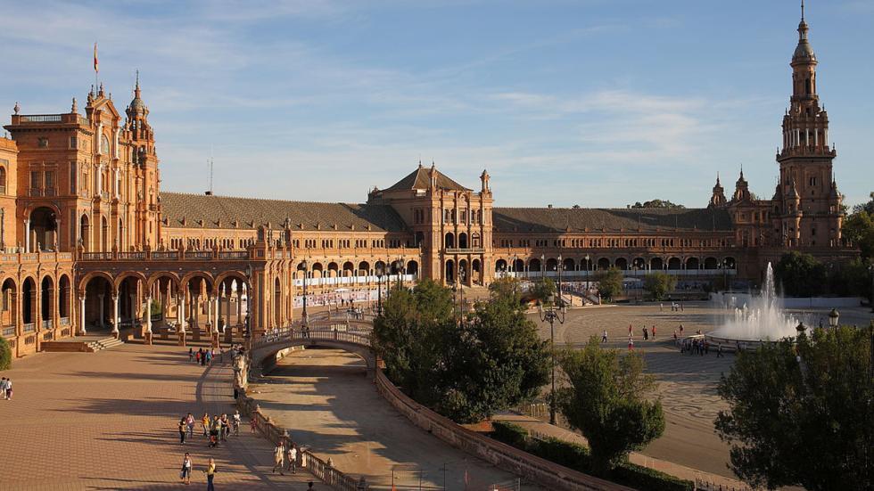 La Plaza de España, en Sevilla.