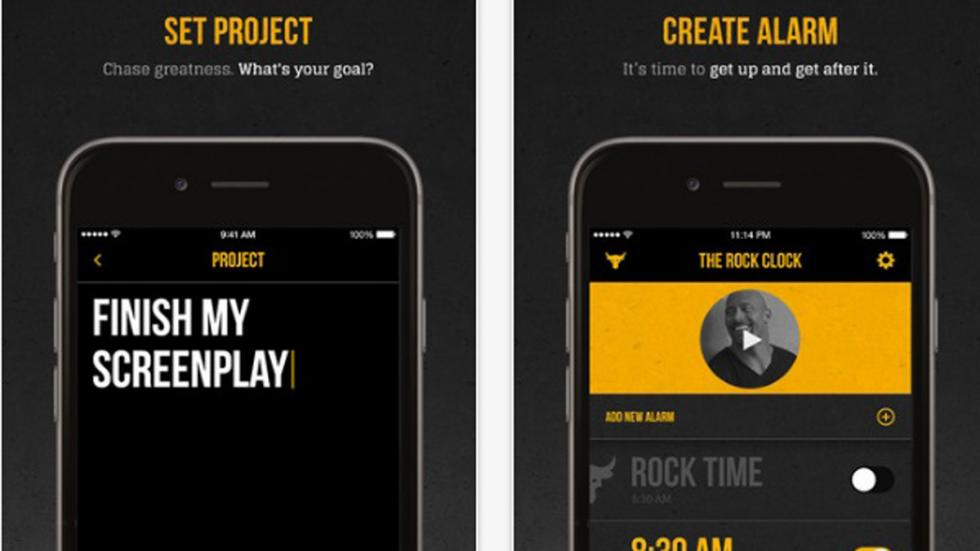 the rock clock app dwayne johnson