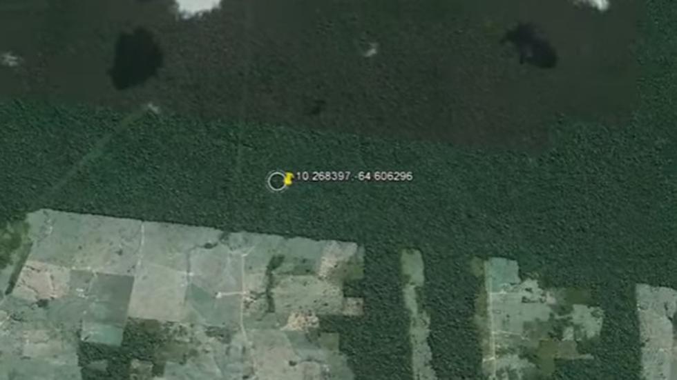 nave extraterrestre amazonas google maps vista