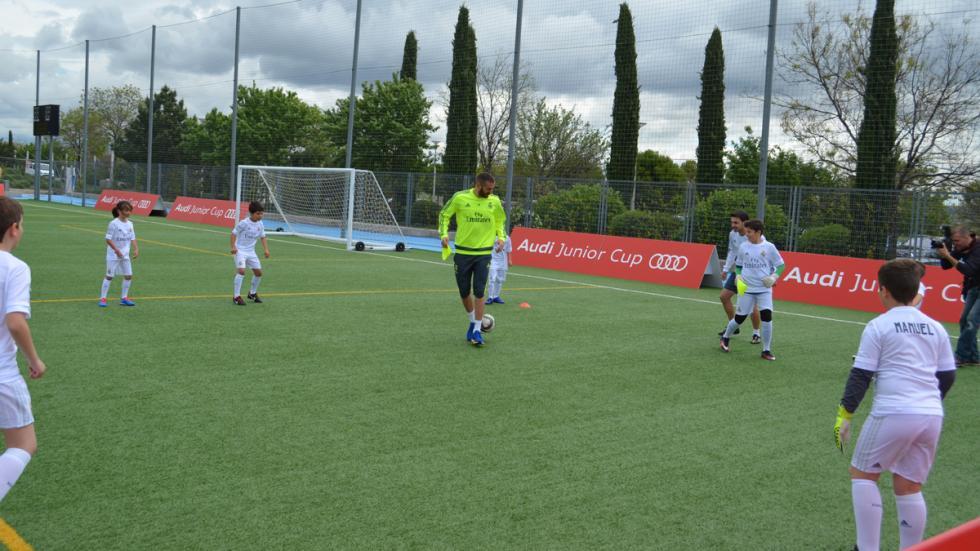 benzema real madrid audi junior cup jugadores participantes