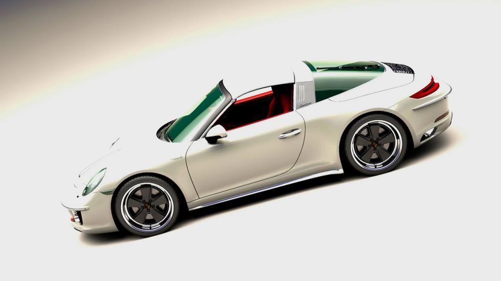 Porsche 911 retro blanco