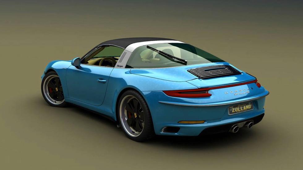 Porsche 911 retro azul