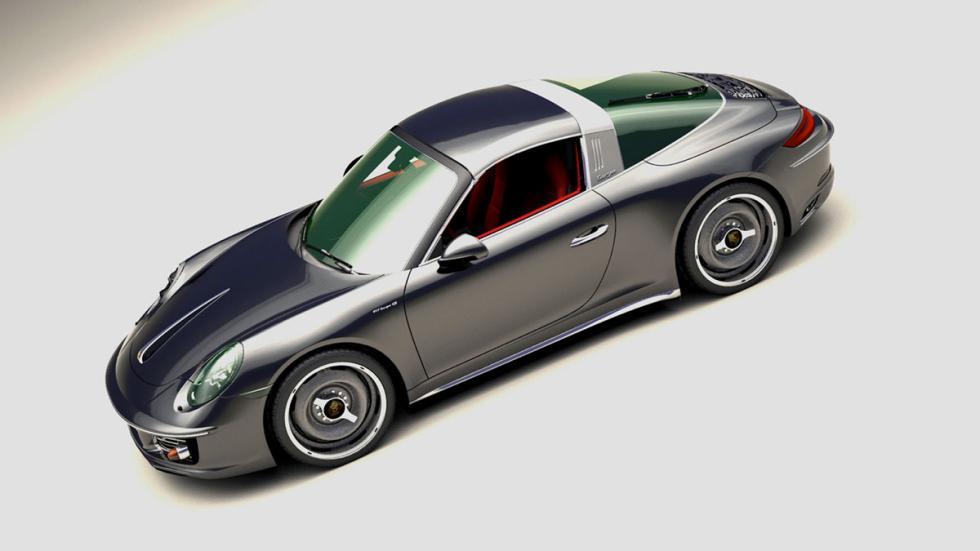 Porsche 911 retro gris