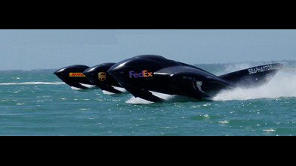 seaphantom barco helicoptero propulsores mares