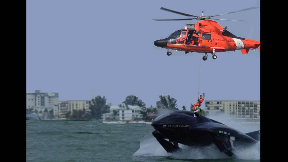seaphantom barco helicoptero propulsores rescate
