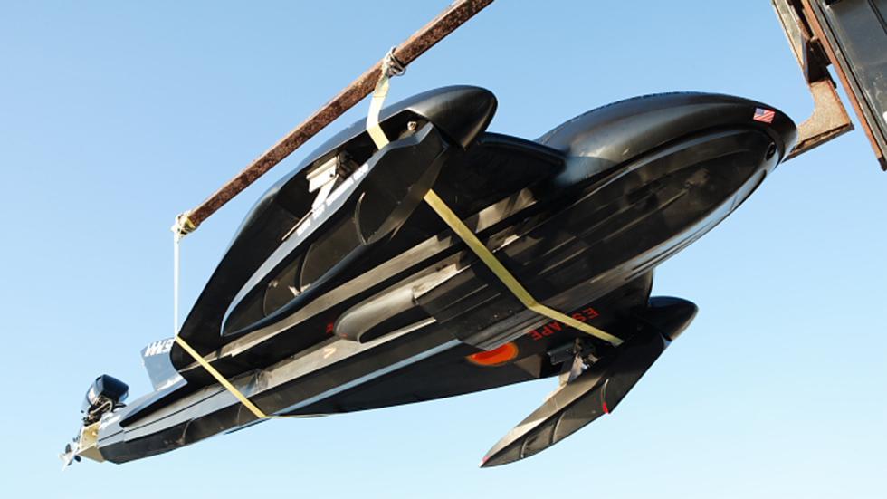 seaphantom barco helicoptero propulsores agua