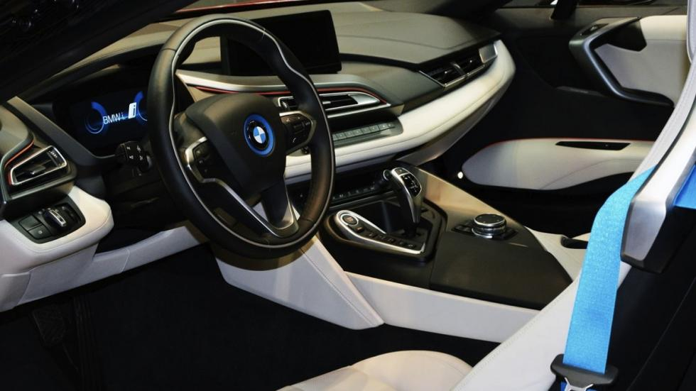 BMW i8 Lava Red interior