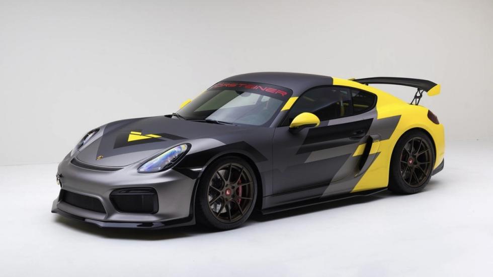 Porsche Cayman V-CS Aero kit por Vorsteiner tres cuartos delanteros
