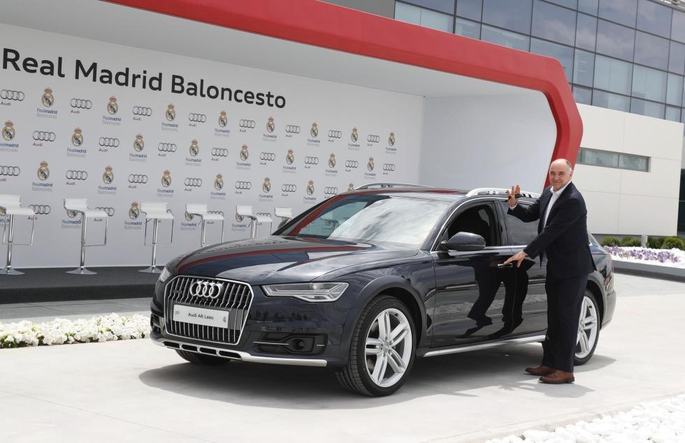 Audi entrega gama a plantilla de Baloncesto del Real Madrid Pablo Laso