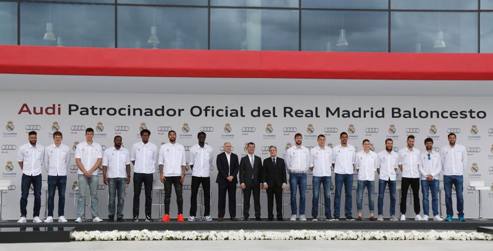 Audi entrega gama a plantilla de Baloncesto del Real Madrid valdebebas