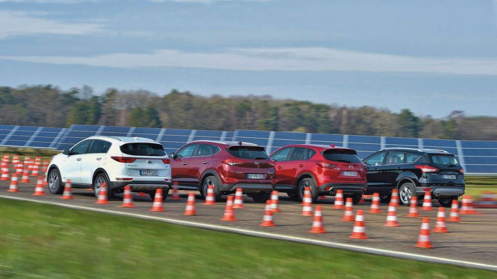 Comparativa Hyundai Tucson/Ford Kuga/Mazda CX-5/Kia Sportage traseras