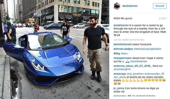 Dan Bilzerian Lamborghini Huracán Instagram