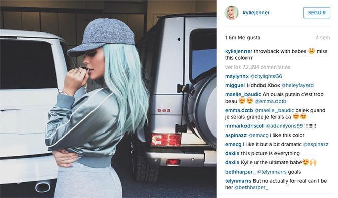 Kylie Jenner Range Rover Mercedes Benz Instagram